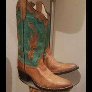 Old West Womens Cowgril boots EUC Size 5